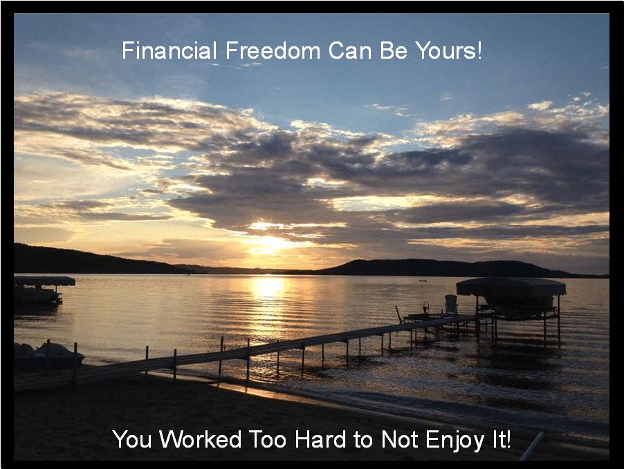 Avoiding portfolio panic allows financial freedom.