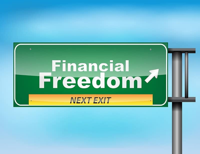 Financial Freedom can be yours. Just follow the signs.