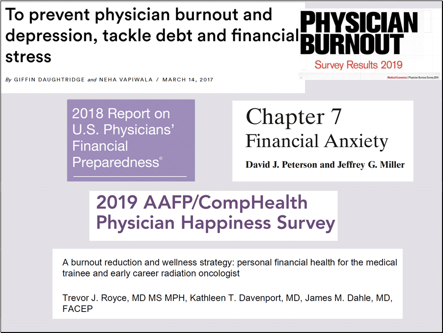 Portfolio panic adds to physician burnout.