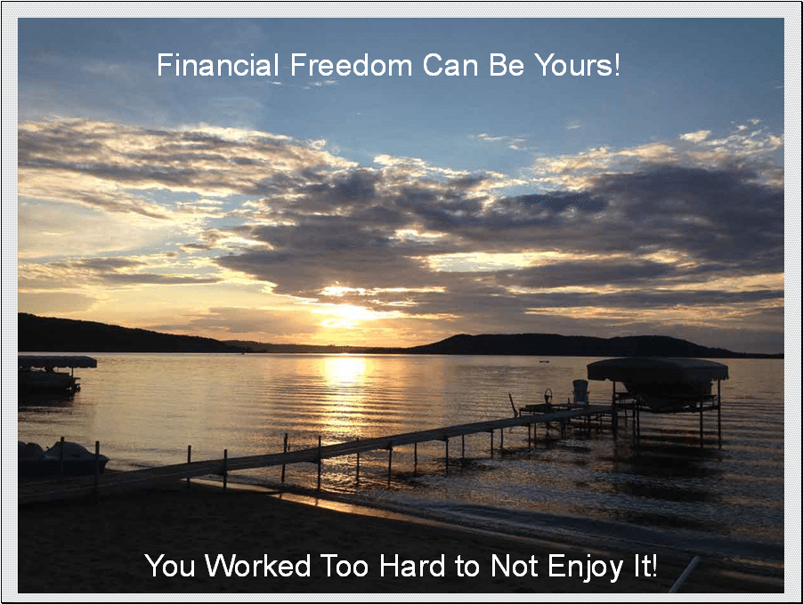 Avoiding portfolio panic allows financial freedom.